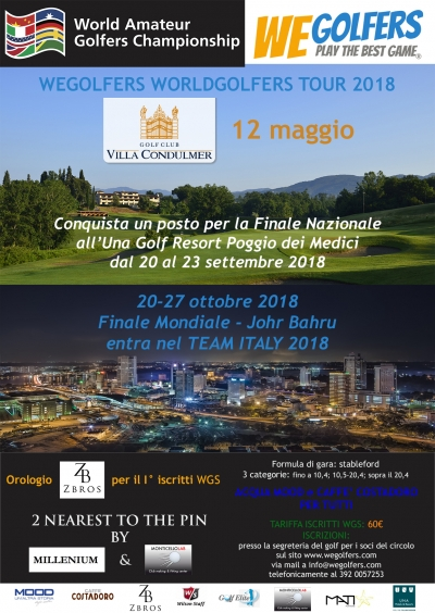 WE GOLFERS TOUR 2018